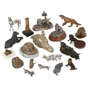 Eclectic collection of twenty dog-themed objects