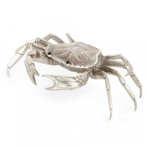 Spanish solid silver crab shaped box