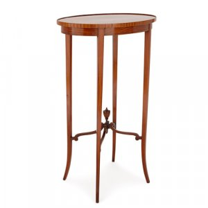 Antique satinwood and mahogany parquetry occasional table