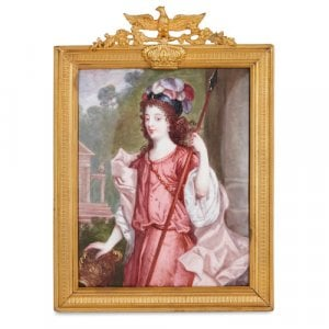 Limoges enamel plaque depicting the Duchess of Richmond