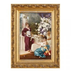 Antique German KPM painted porcelain plaque