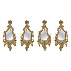 A set of four girandoles in the Rococo style