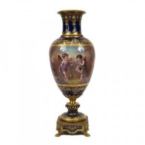 A very fine ormolu mounted Sèvres style porcelain vase
