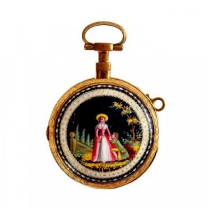 An enamel mounted gold pocket watch by Breguet