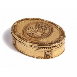 Antique 18th Century French gold snuff box