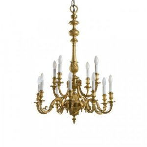 A fine Louis XIV style ormolu chandelier by F. Barbedienne