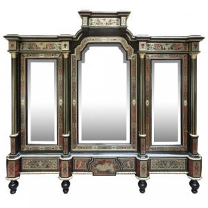 A fine and unusual Napoleon III period Boulle cabinet
