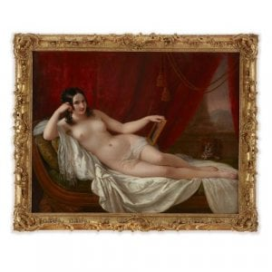 Oil portrait of Fanny Elssler as Venus by Natale Schiavoni
