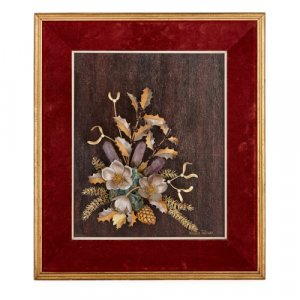 Gold, silver, and amythest flower study by Tolliday for Garrard