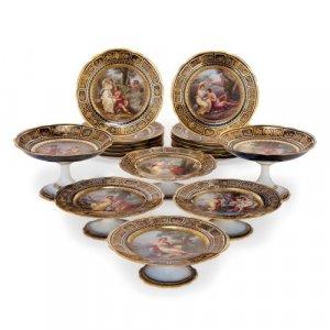 Royal Vienna porcelain antique dessert service