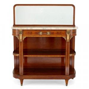 Louis XVI style ormolu mounted mahogany buffet