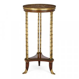 Ormolu and mahogany antique French guéridon by Dasson