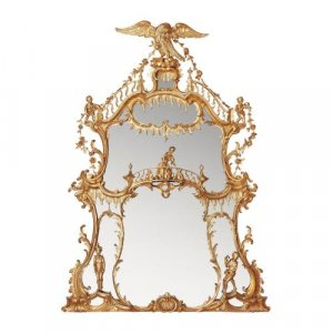 William IV period giltwood overmantle antique English mirror