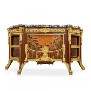 'Meuble Soleil', ormolu mounted side cabinet by Linke