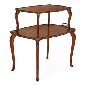 Ormolu and marquetry tea table by Edwards & Roberts