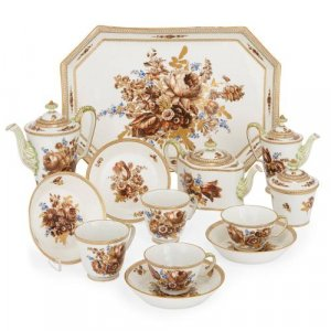 Fine Meissen porcelain antique tea and coffee set