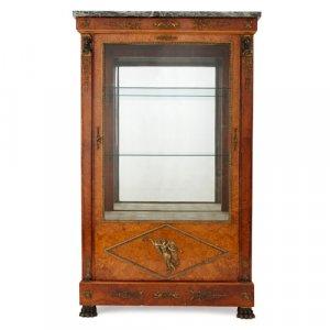 Empire style burr-amboyna vitrine by Maison Krieger