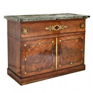 Empire period ormolu mounted mahogany side cabinet