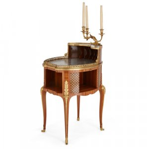 Antique ormolu mounted writing table by Dasson