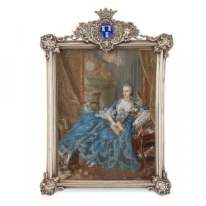Portrait miniature of the Marquise de Pompadour after Boucher