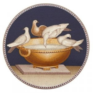 Roman micromosaic plaque depicting The Doves of Pliny
