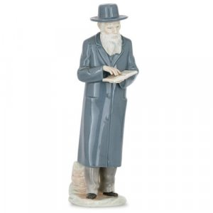 Antique European porcelain figure of a Jewish Rabbi