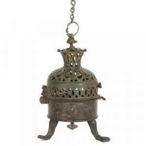 Rare Spanish Moorish bronze incense burner, 10th to 12th Century