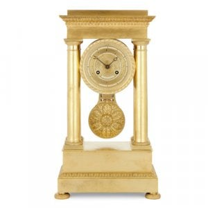 French Empire period ormolu mantel clock by Lepaute