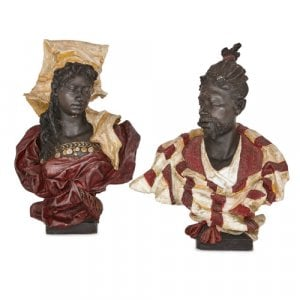 Two Orientalist terracotta busts, attributed Goldscheider