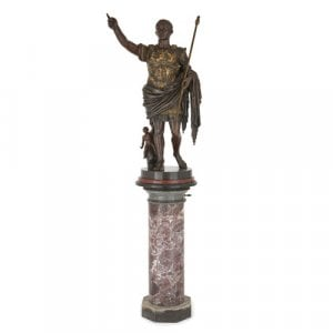 Bronze sculpture of Augustus Caesar by Morelli e Rinaldi