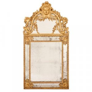 Large French Régence period giltwood mirror