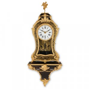 Antique ormolu mounted Boulle cartel clock