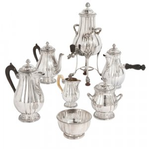 Louis XVI style silver tea and coffee service