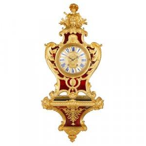 Ormolu and tortoiseshell Rococo style bracket clock by Gros