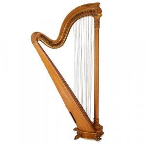 Ormolu mounted harp by Pleyel, Wolff, Lyon & Cie.