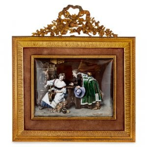 Antique Limoges enamel plaque after Ferdinand Roybet