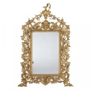 Large carved giltwood Baroque style antique Italian mirror