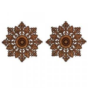 Pair of Regency period gilt brass ceiling roses