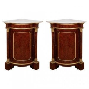Pair of antique corner cabinets from Windsor Castle