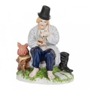 Antique Russian porcelain figure of a peasant by Gardner