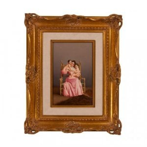 'Motherhood', antique KPM porcelain plaque by Greiner