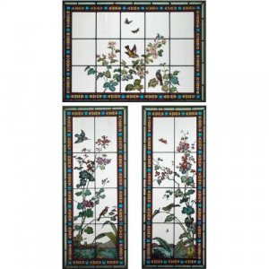 Antique stained glass window set by Glasmalerei Geyling