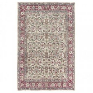 Antique Persian woven wool Kirman carpet