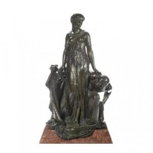 Unveiling the Princess patinated bronze group by H. Dumaige