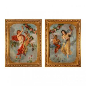 Pair of allegorical oil paintings by G. Cornicelius