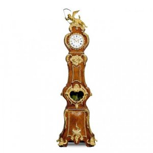 Louis XV style ormolu mounted long case clock by Lenoir