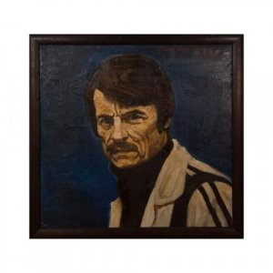 Oil portrait of Andrei Arsenevich Tarkovsky by A. Ivasenko