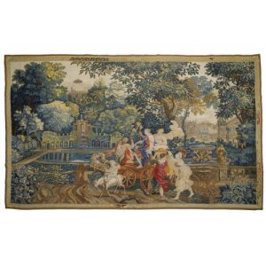 Antique tapestry depicting the story of Bacchus and Ariadne