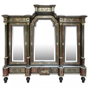 Napoleon III period antique Boulle French cabinet