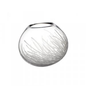 Contemporary furnace glass 'Frost Vase' by Vezzini and Chen